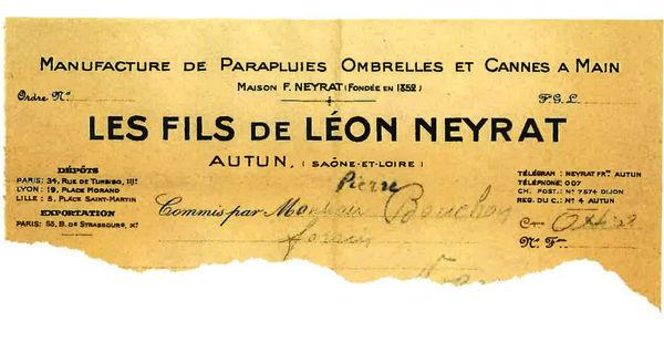 Papier à en-tête de l'entreprise Neyrat