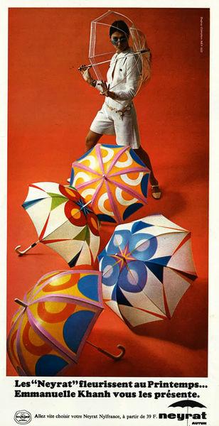 Réclame pour le parapluie Neyrat