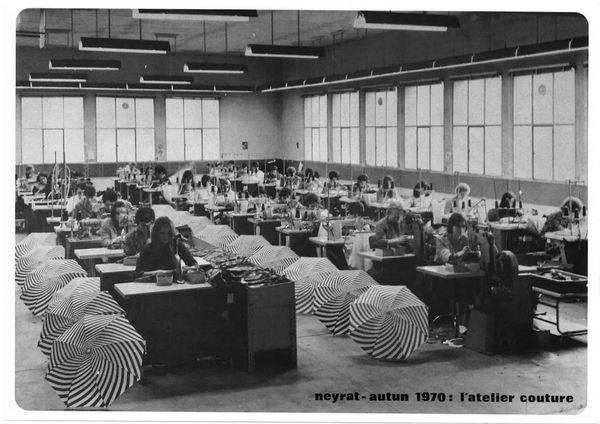 L'atelier couture en 1970